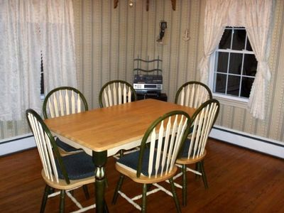 Eat In Area--additional table and chairs on screened in back porch & grill!