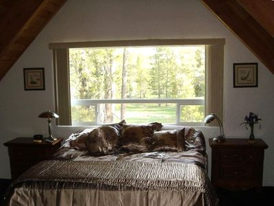 Master Bedroom with Meadow Forest View and Cable TV