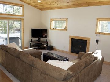 Make yourself comfortable with the gas fireplace & HD TV—or relax in the hot tub