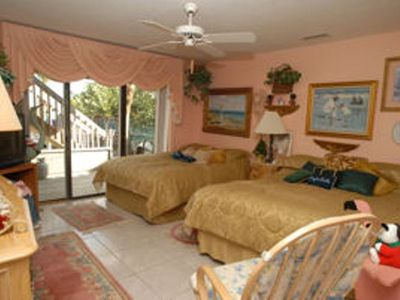 #1 Beach house- Decorative furnishings and lots of space in the large bedrooms.