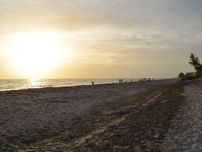 Beautiful Gulf Sunset on Your Private Beach. just a short walk, watch the video!