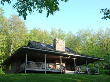Canaan Valley house rental - 3 private acres with trails, fire pit and pond