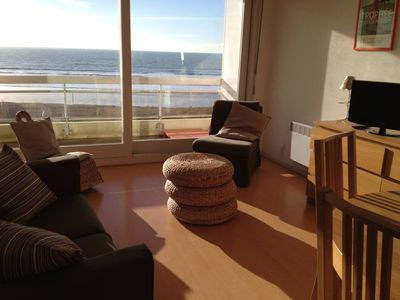 Hardelot beach, facing the sea, pedestrian area, apartment 4 people view TOP