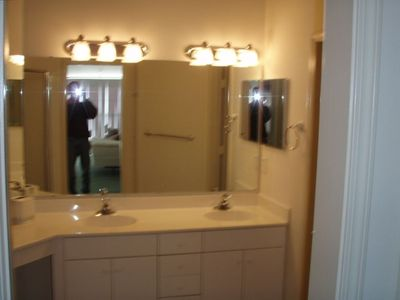 Large double sink master bath