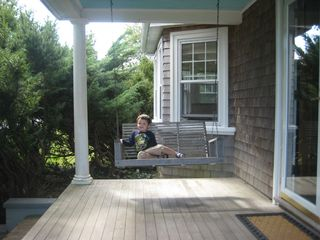 Hyannis - Hyannisport house photo - Listening to the birds on the front porch swing!