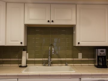 Recently updated kitchen with ample counter space and tools for cooking