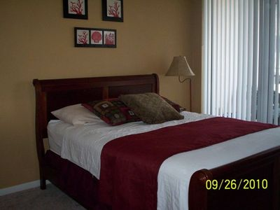 Master Bedroom with Queen Size Sleigh Bed