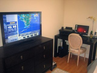 Sunny Isle condo photo - PC with Printer/Internet and Flat Screen TV in Master Bedroom