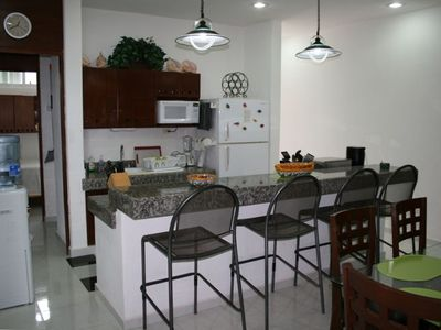 Kitchen with Counter Seating for 4