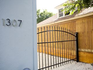 Austin house photo - Property Gated with an eight foot fence for security and privacy.