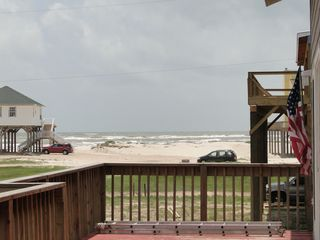 San Luis Pass house photo - Front Deck Facing Gulf