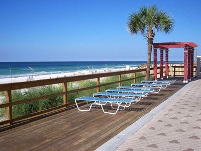 Majestic Beach Towers condo rental - One of the Sun Bathing Areas