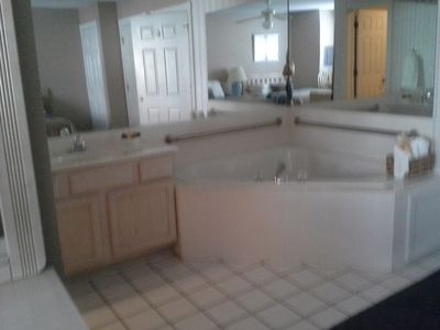 Soaking tub in 2nd bathroom.