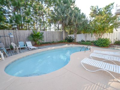 Seagrove Beach house rental - Private pool in backyard with plenty of room for laying out and cooking on grill