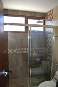 Master bedroom private bath with walk in shower