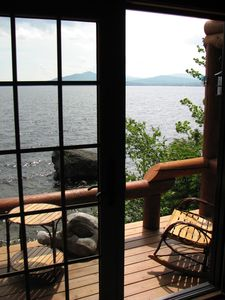 View From The Living Room Looking Out On Moosehead Lake