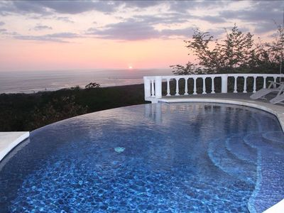 Infinity edge pool overlooking ocean view