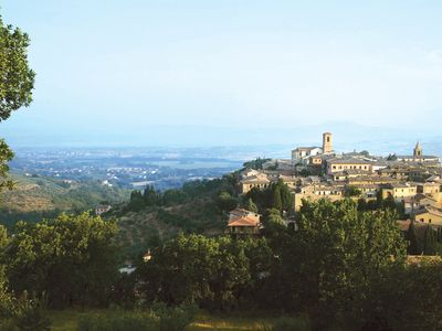 The beautiful hill town of Bettona overlooking the Spoleto Valley