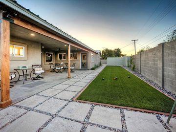 Old Town Scottsdale house rental - 50' Bocce Ball Court & Regulation Bocce Ball Set Faces North, Ceiling Fan & BBQ