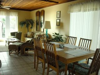 South Padre Island condo photo - Dining area seats six people