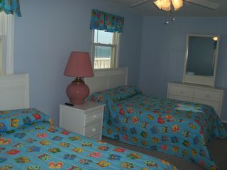 Kure Beach house photo - Large Double Bedroom with Ocean Views