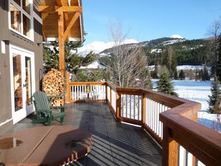 Whistler chalet photo - Balcony with hot tub and panoramic mountain views