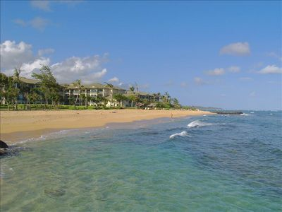 "Beautiful Waipouli Beach and it's newest 5 star Resort ""Waipouli Beach Resort"""
