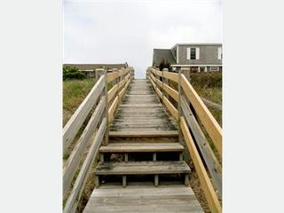 East Sandwich cottage photo - View of staircase from the beach
