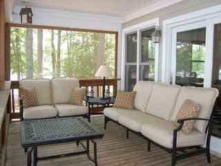 Lake Gaston house photo - Enjoy the breeze, shade, views of the lake and read day or night!