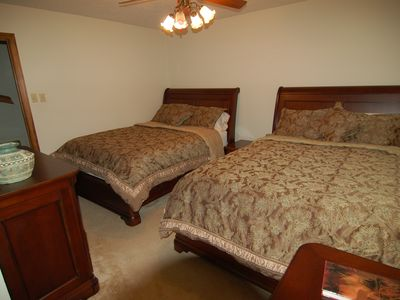 Bedroom with two Queen beds