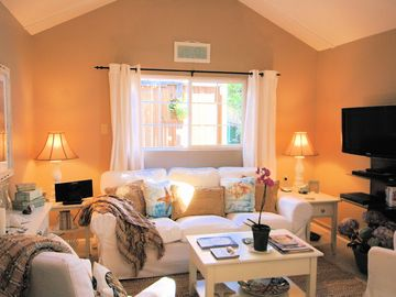 """Carmel house rental - Welcome to """"Seashell Guest Cottage""""! Newly remodeled quintessential Carmel Cottage. Beautifully furnished by professional designer."""