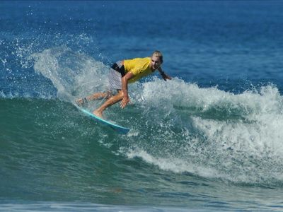 Santa Teresa villa rental - Surfing right in front, Playa Hermosa
