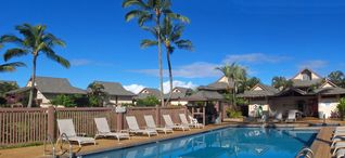 Princeville condo photo - Relax at the swimming pool, which includes jacuzzi