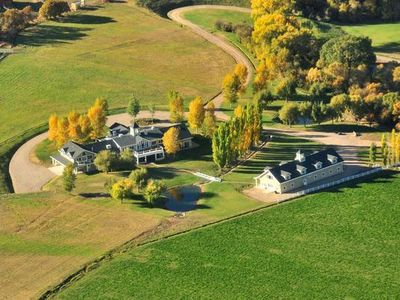 Aerial view of Aspen High Mountain Ranch