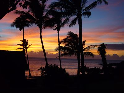Kaluakoi cottage rental - Gorgeous Sunset - photo taken from cottage lanai!
