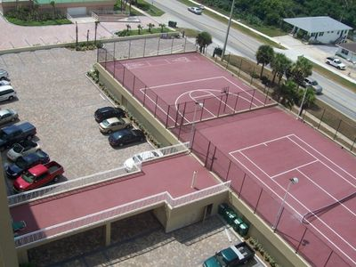 Private Tennis basketball and shuffleboard Court