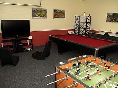 Air Conditioned Game Room Wii gaming system, Foosball, Air Hockey, Pool Table
