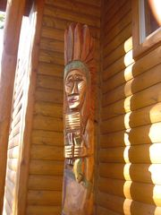 Cedar Lake cabin photo - Hand Carved Totem Pole