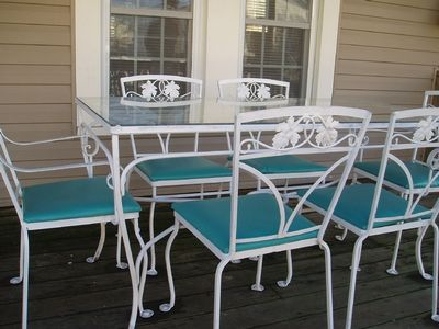 Cottage porch table