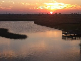 North Padre Island condo photo - Beautiful sunset from patio