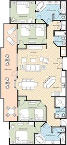 Presidential Suite Floor Plan 4 Bedroom / 4 Bath