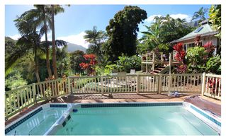 Wainiha house photo - Enjoy the view on a hot day in your private pool