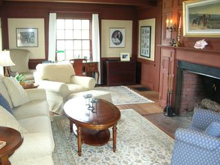 West Yarmouth house photo - Redwood PaneledLiving Room