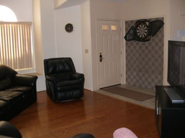 Main Entrance, Living Room, Electronic Dart Board