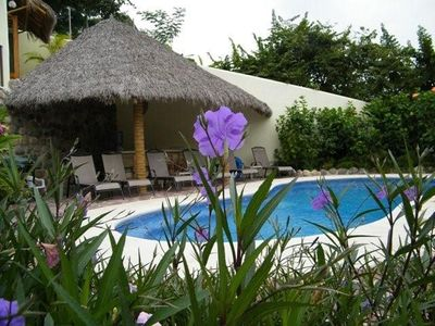 Pool and Poolside Palapa