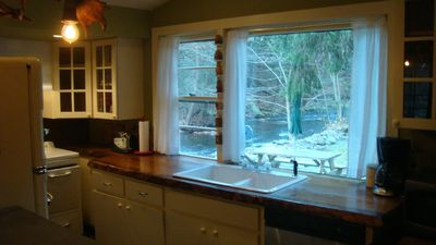 View of Pensyl Creek from kitchen