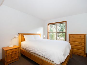 Bedroom with Queen bed and view of Blackcomb