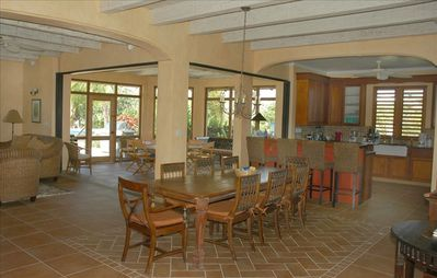 Main dining area shows expanse of living area.