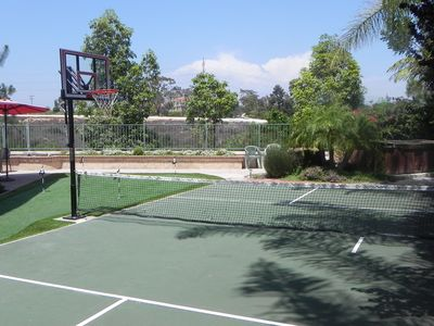 Sport Court View, Hot Tub in corner
