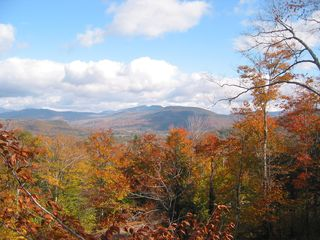 Northeast view from Deck - Autumn - Bartlett house vacation rental photo